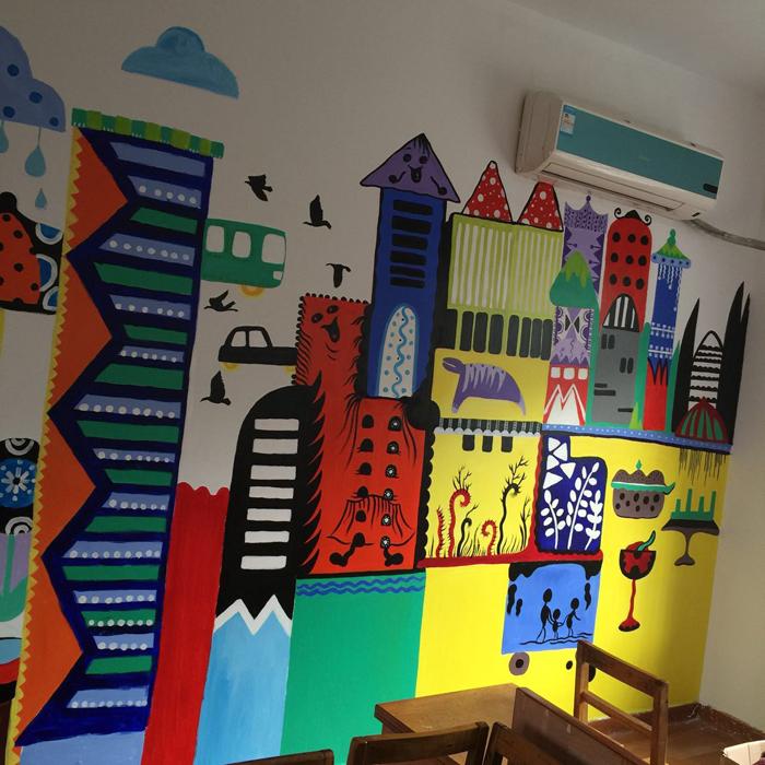 美术教室艺术墙绘